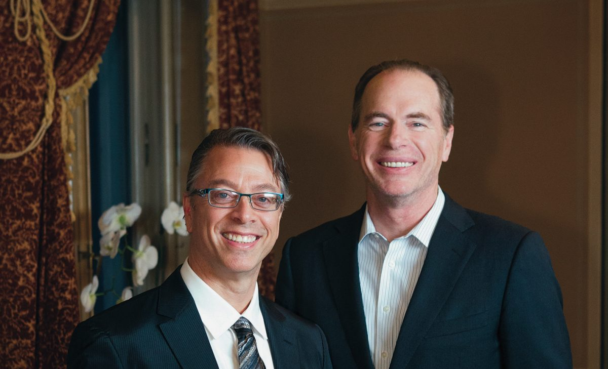 Neal Milch, CEO of Laundrylux, and Keith McLoughlin, Electrolux AB President and CEO, celebrated their 60 year partnership.