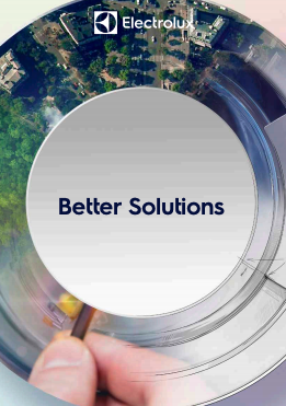 "Learn more about Electrolux's commitment to Sustainability and Technology. Download Electrolux's brochure on ""Solutions for Professional Food Service & Laundry."""